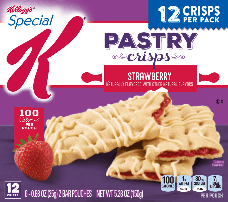 $0.50 for Special K® Pastry Crisps (expiring on Monday, 03/02/2020). Offer available at multiple stores.