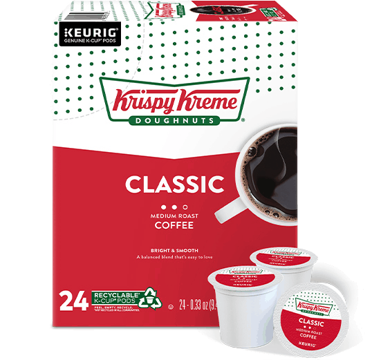 $2.00 for Krispy Kreme Classic K-Cup Coffee (expiring on Friday, 12/25/2020). Offer available at multiple stores.