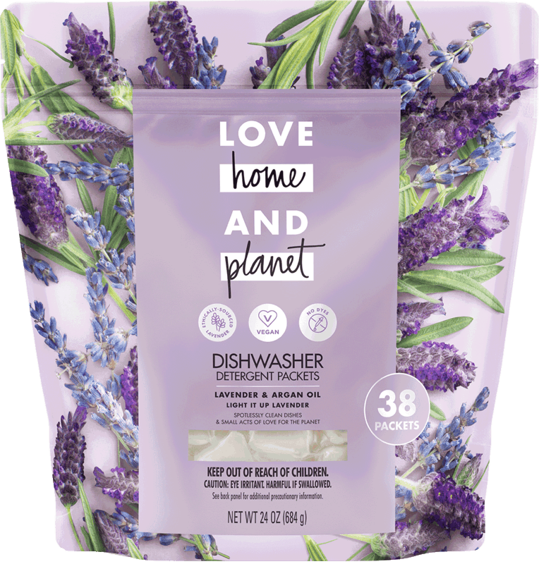 $3.00 for Love Home and Planet™ Dishwasher Detergent Packets (expiring on Saturday, 05/02/2020). Offer available at Meijer, Harris Teeter.
