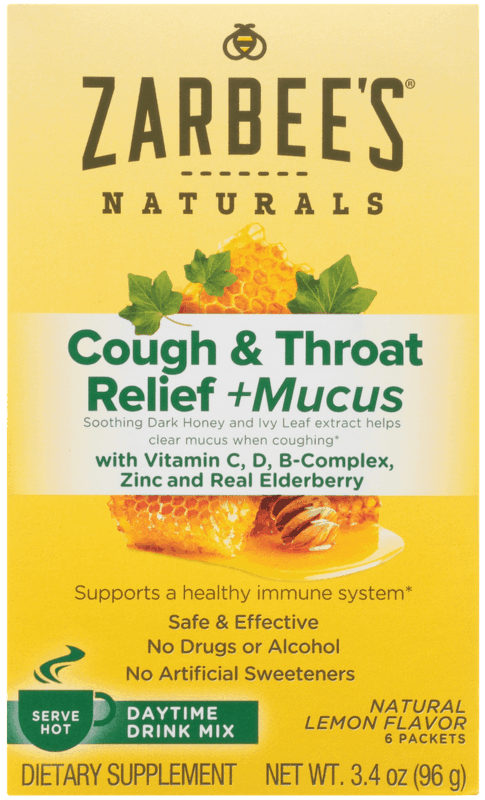 $1.00 for Zarbee's® Naturals Cough & Throat Relief + Mucus (expiring on Wednesday, 05/06/2020). Offer available at multiple stores.