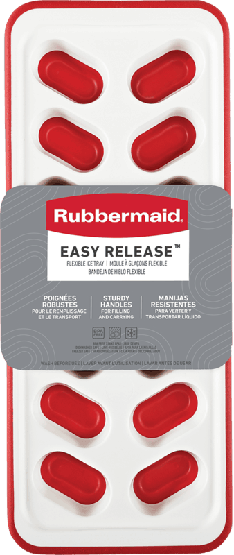 $0.75 for Rubbermaid Flexible Ice tray (expiring on Monday, 01/31/2022). Offer available at Walmart, Kroger, Meijer, Walmart Pickup & Delivery.