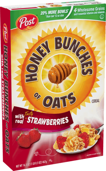 $0.25 for Honey Bunches of Oats® Strawberry Cereal (expiring on Saturday, 03/02/2019). Offer available at multiple stores.
