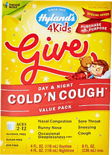 $1.50 for Hyland's® 4 Kids Cold 'n Cough Day & Night Value Pack. Offer available at multiple stores.