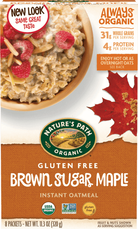$0.75 for Nature's Path Organic Gluten Free Oatmeal (expiring on Sunday, 01/02/2022). Offer available at Walmart, Walmart Pickup & Delivery.