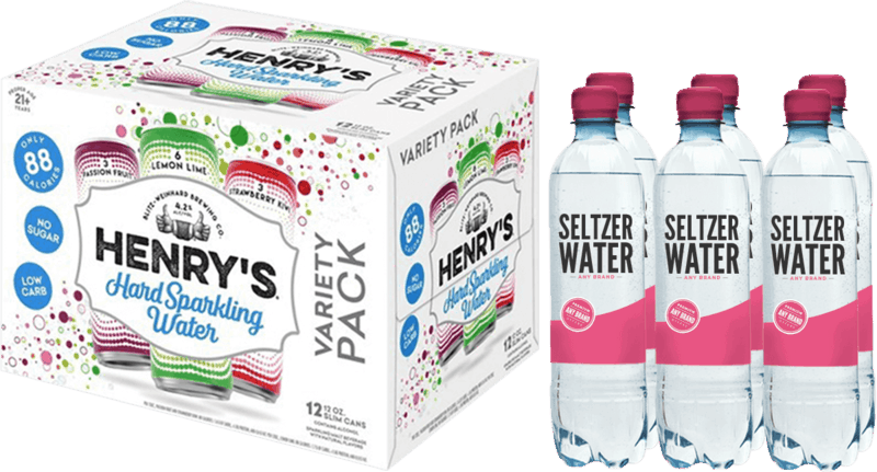 $3.00 for Henry's® Hard Sparkling Water (expiring on Monday, 07/01/2019). Offer available at multiple stores.