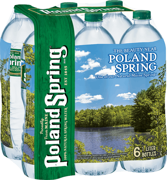 $1.00 for Poland Spring® Brand Natural Spring Water (expiring on Friday, 03/02/2018). Offer available at Walmart.