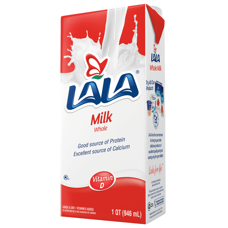 $0.50 for LALA® UHT Whole or Lactose Free Milk (expiring on Monday, 09/02/2019). Offer available at Walmart.