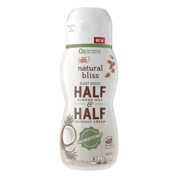 $1.00 for Coffee mate® natural bliss® Plant Based Half & Half (expiring on Friday, 08/02/2019). Offer available at Walmart, ShopRite.
