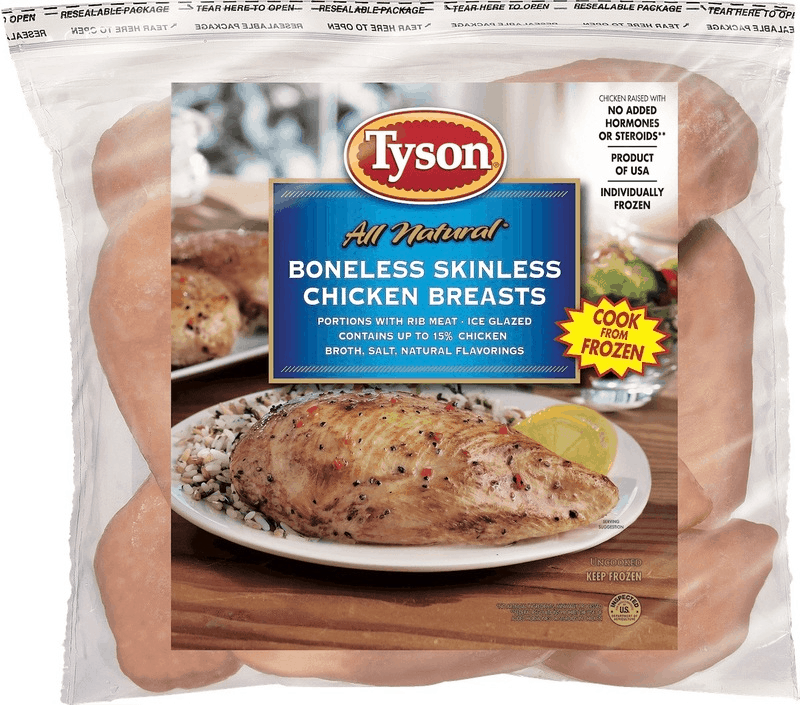 $2.50 for Tyson®All Natural Individually Frozen Chicken (expiring on Wednesday, 10/02/2019). Offer available at multiple stores.