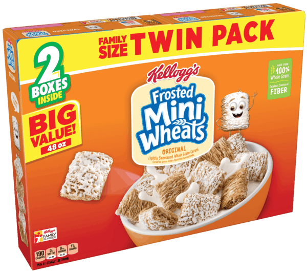 $1.50 for Kellogg's® Frosted Mini-Wheats® Twin Pack (expiring on Thursday, 08/02/2018). Offer available at Walmart.