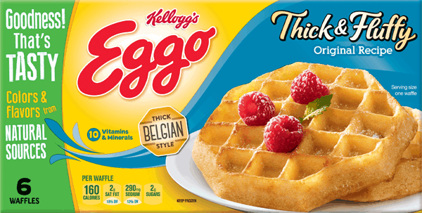 $0.50 for Eggo® Thick & Fluffy Waffles (expiring on Monday, 04/02/2018). Offer available at Walmart.