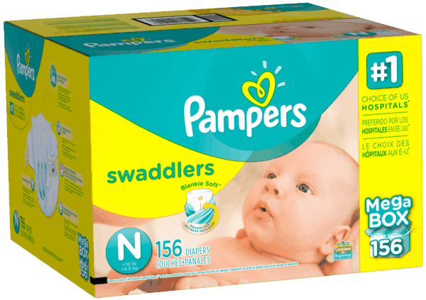 $3.00 for Pampers® Diapers (expiring on Monday, 01/01/2018). Offer available at multiple stores.