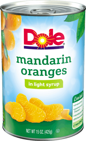 $0.50 for DOLE® Mandarin Oranges (expiring on Tuesday, 04/02/2019). Offer available at Walmart.