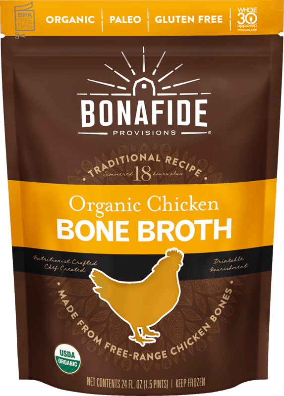 $1.00 for Bonafide Provisions Organic Bone Broth (expiring on Monday, 07/06/2020). Offer available at Walmart, Whole Foods Market®, Natural Grocers, Sprouts Farmers Market.