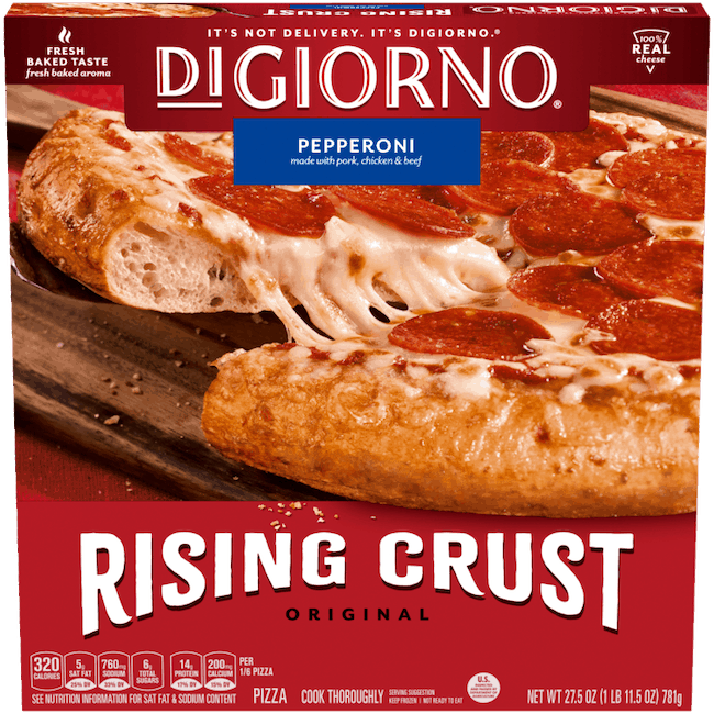 $0.75 for DIGIORNO Original Rising Crust Frozen Pizza (expiring on Thursday, 10/29/2020). Offer available at Walmart, Walmart Grocery.