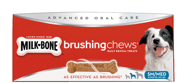 $0.75 for Milk-Bone® Brushing Chews® Daily Dental Treats. Offer available at multiple stores.