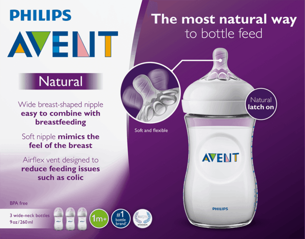 $3.00 for Philips Avent Baby Bottles (expiring on Wednesday, 10/11/2017). Offer available at Target, Walmart.