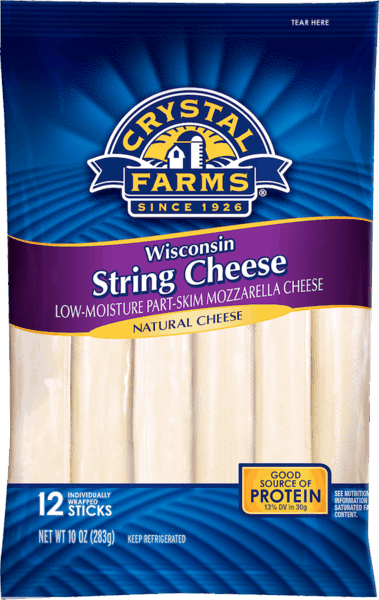 $0.50 for Crystal Farms® String Cheese (expiring on Saturday, 03/02/2019). Offer available at multiple stores.