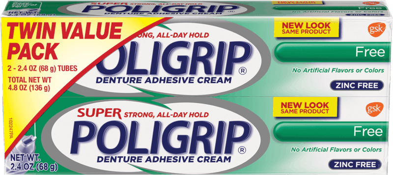 $1.00 for Poligrip® Denture Adhesive. Offer available at Walmart.