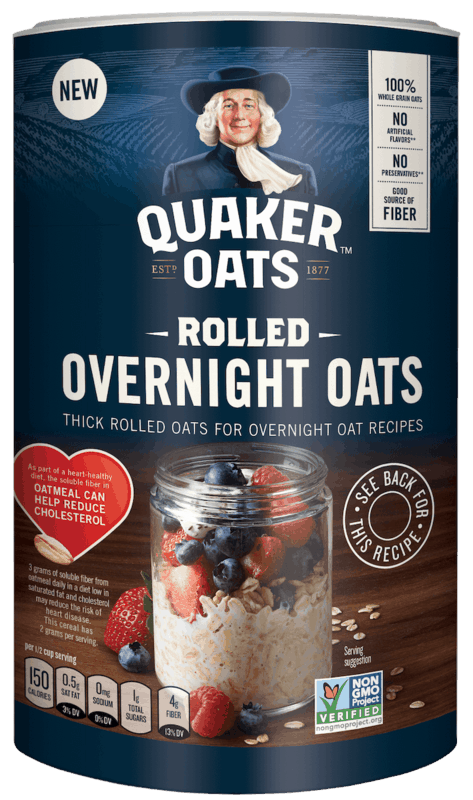 $0.75 for Quaker® Rolled Overnight Oats (expiring on Monday, 03/02/2020). Offer available at Walmart.