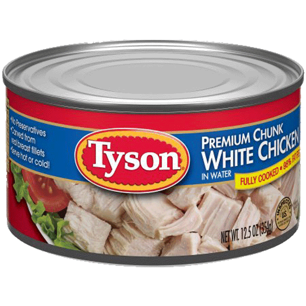$1.00 for Tyson® Premium Chunk White Chicken (expiring on Tuesday, 07/04/2017). Offer available at Walmart.