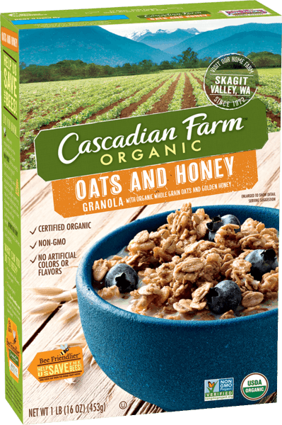 $0.50 for Cascadian Farm™ Organic Granola Cereal (expiring on Friday, 03/02/2018). Offer available at Walmart.