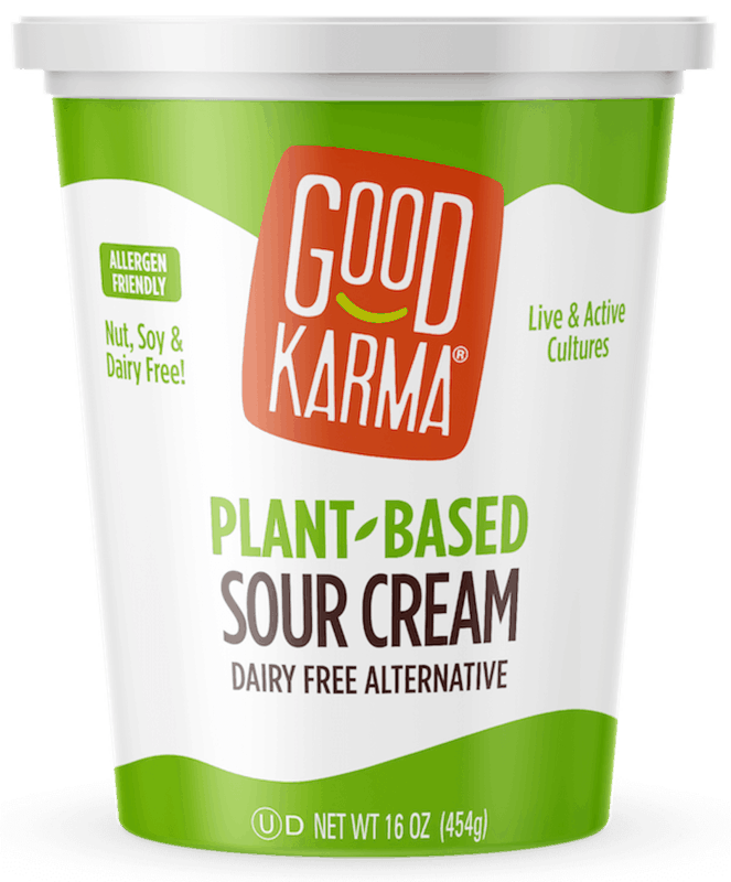 $1.50 for Good Karma Plant-Based Sour Cream (expiring on Sunday, 06/14/2020). Offer available at Target.