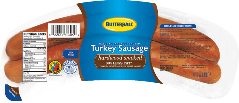 $0.25 for Butterball Turkey Sausage (expiring on Monday, 09/20/2021). Offer available at multiple stores.