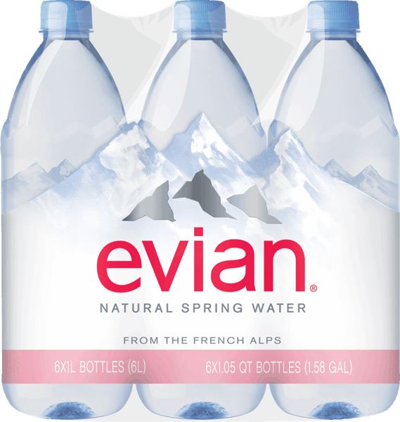 $2.50 for Evian® Natural Spring Water. Offer available at Walmart.