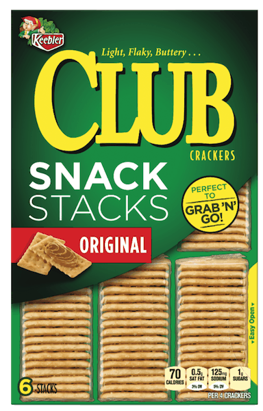 $0.25 for Keebler® Club® Crackers (expiring on Sunday, 06/02/2019). Offer available at multiple stores.