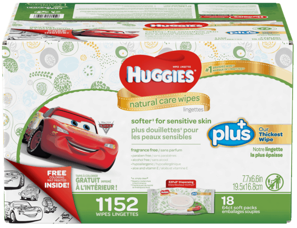$3.00 for Huggies® Natural Care Plus Wipes (expiring on Saturday, 06/02/2018). Offer available at Costco.