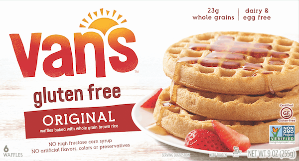 $0.50 for Van's™ Wheat & Gluten Free Waffles. Offer available at Walmart.