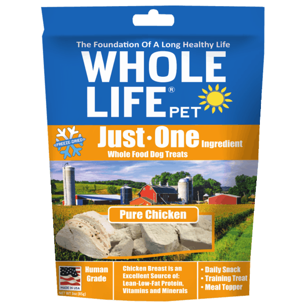 $2.00 for Whole Life® Just One Dog Treats (expiring on Saturday, 06/02/2018). Offer available at Petco, Big Y Foods.