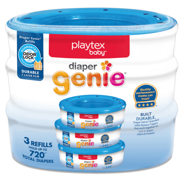 $1.00 for Playtex® Diaper Genie® Diaper Disposal System Refills (expiring on Wednesday, 01/02/2019). Offer available at Walmart.