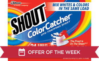 Shout Color Catcher Dye-Trapping Sheet Offer - Ibotta.com