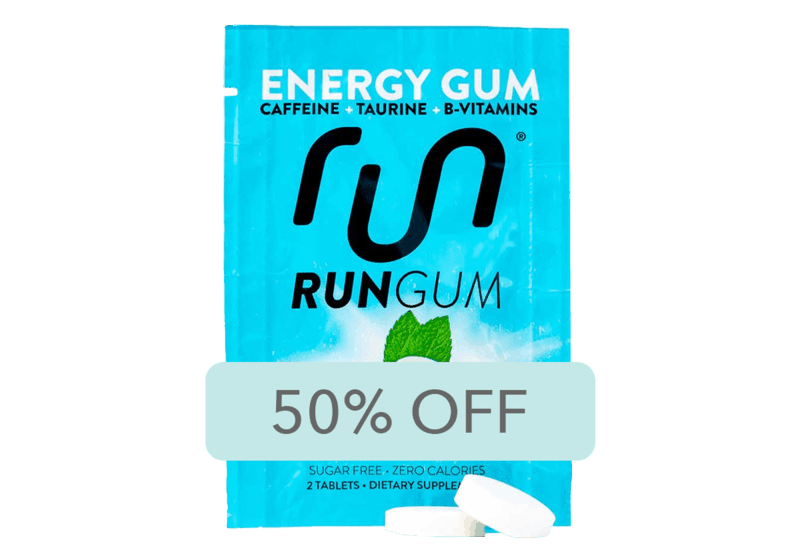 $1.00 for Run Gum Energy Gum (expiring on Tuesday, 07/07/2020). Offer available at multiple stores.