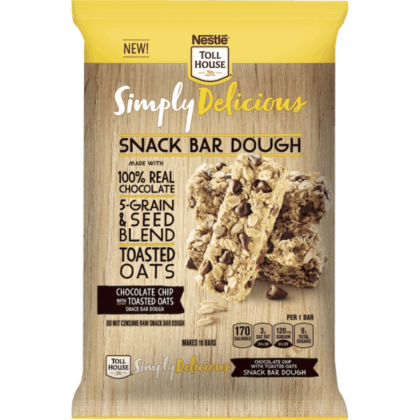 $0.50 for Simply Delicious Snack Bar Dough by NESTLÉ® TOLL HOUSE® (expiring on Tuesday, 04/02/2019). Offer available at Meijer.