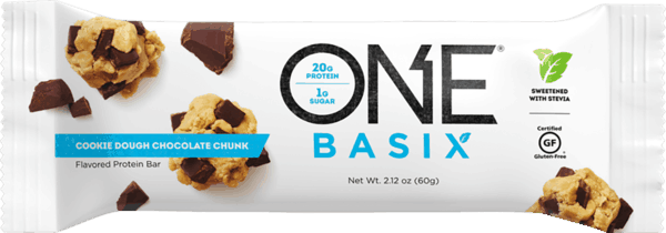 $0.50 for ONE® BASIX Protein Bars (expiring on Monday, 09/02/2019). Offer available at GNC, Vitamin Shoppe.