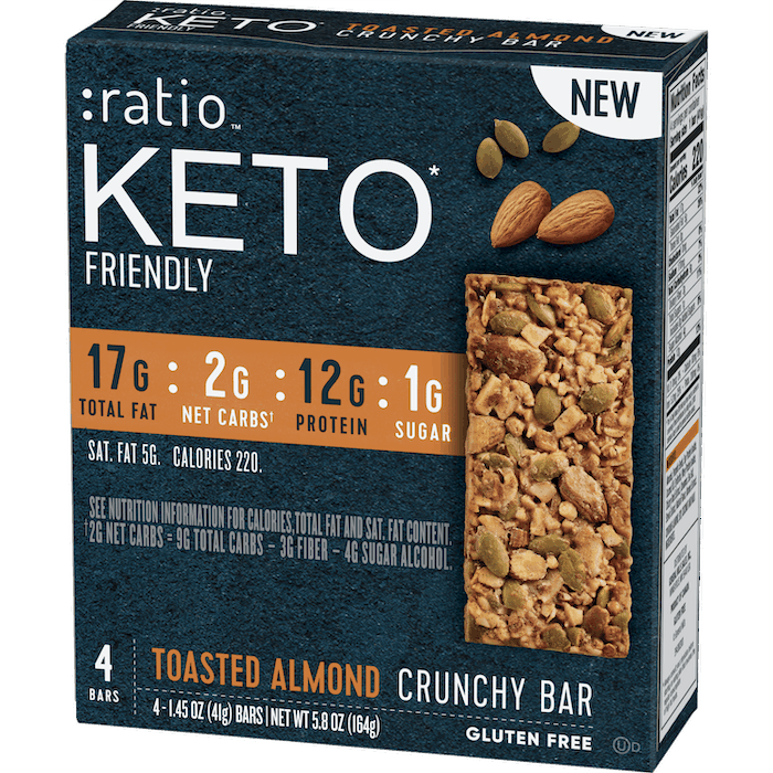 $0.50 for :ratio KETO* Friendly Crunchy Bars (expiring on Thursday, 12/31/2020). Offer available at multiple stores.