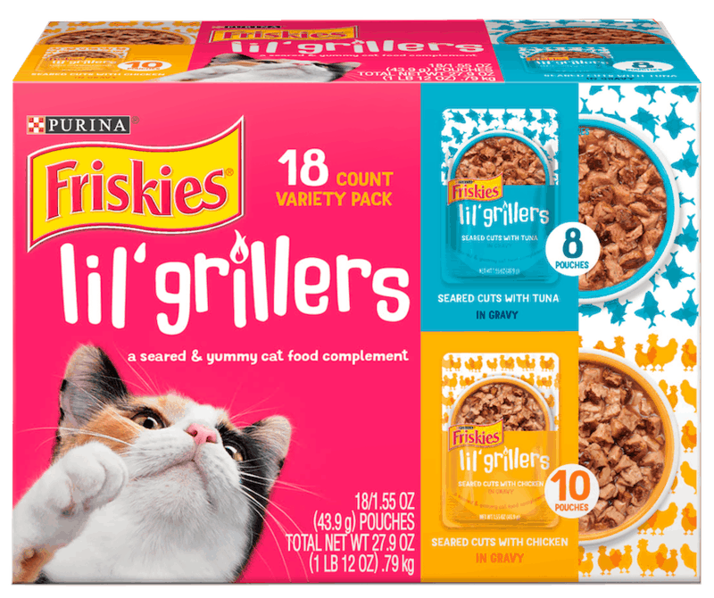 $2.50 for Purina Friskies Lil' Grillers (expiring on Friday, 10/16/2020). Offer available at multiple stores.