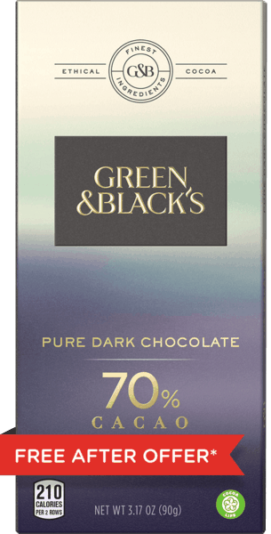 $4.00 for GREEN & BLACK'S Chocolate Bar (expiring on Sunday, 12/31/2017). Offer available at Stop & Shop, Martin's (IN, MI), Giant (DC,DE,VA,MD), GIANT (PA,WV,MD,VA), MARTIN'S.