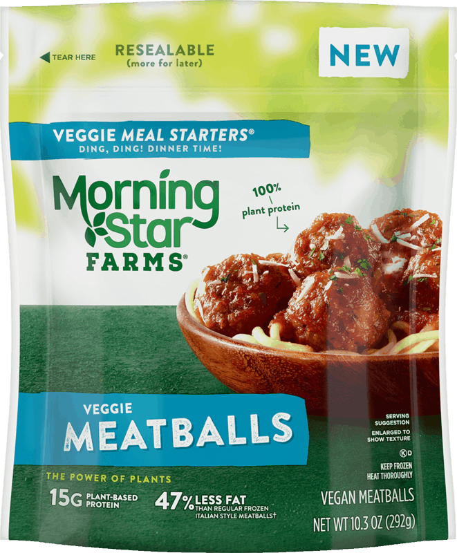 $1.50 for MorningStar Farms Veggie Meatballs. Offer available at Walmart, Walmart Pickup & Delivery.