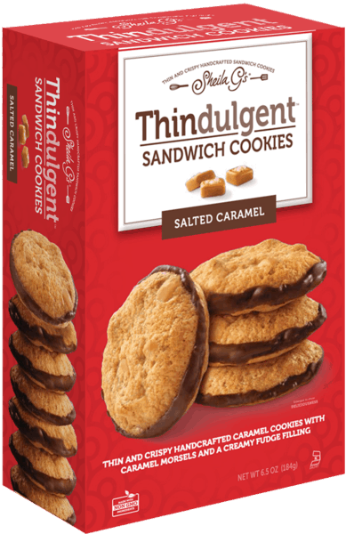 $0.75 for Thindulgent™ Sandwich Cookies Salted Caramel (expiring on Tuesday, 10/02/2018). Offer available at multiple stores.