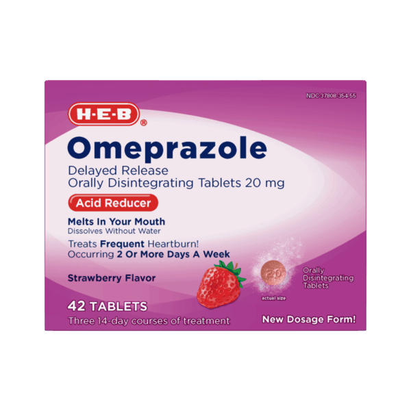 400 for h e b omeprazole acid reducer orally disintegrating tablets 20mg expiring on monday 04012019 offer available at h e b