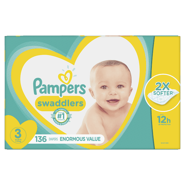 $3.00 for Pampers® Swaddlers. Offer available at Walmart.