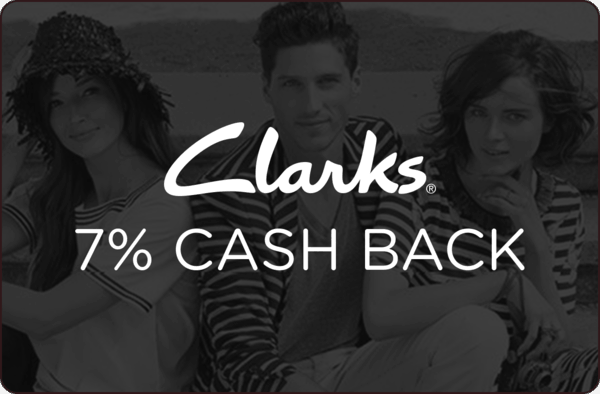 $0.00 for 7% cash back at Clarks USA (expiring on Sunday, 12/31/2017). Offer available at Clarks.
