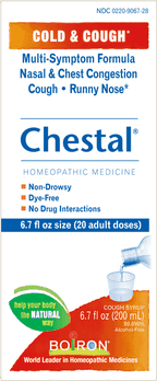 $2.00 for Chestal® Cold & Cough Syrup (expiring on Saturday, 10/31/2020). Offer available at multiple stores.