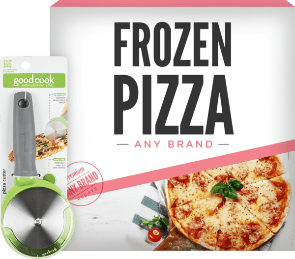 $2.00 for GoodCook® Pro Pizza Cutter & Any Brand Frozen Pizza. Offer available at Kroger.