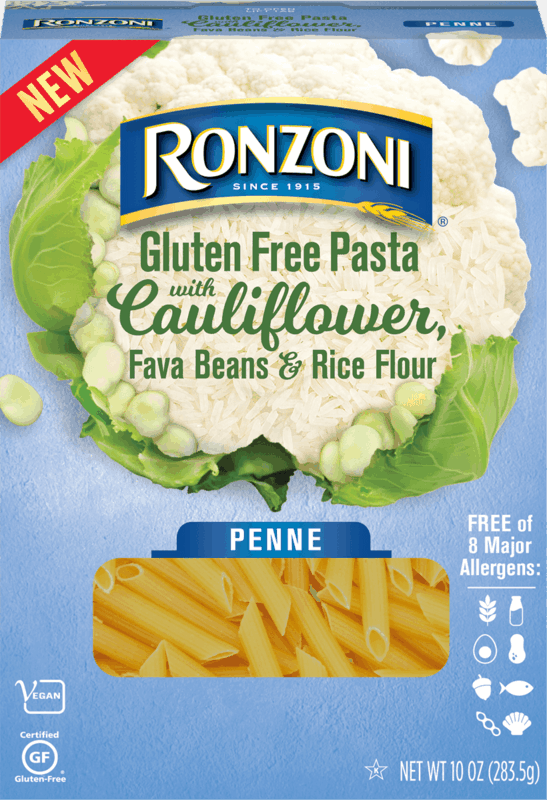 $0.75 for Ronzoni Gluten Free Pasta with Cauliflower, Fave Beans & Rice Flower (expiring on Sunday, 08/02/2020). Offer available at Publix.