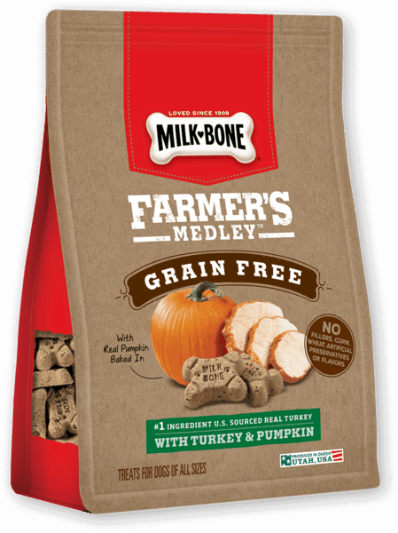 $0.50 for Milk-Bone® Farmer's Medley® Dog Treats (expiring on Friday, 07/05/2019). Offer available at multiple stores.